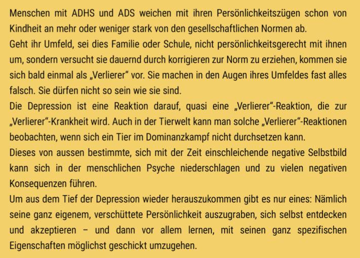 Warum fallen Menschen mit ADHS häufiger in eine Depression und wie kommen sie wieder raus?